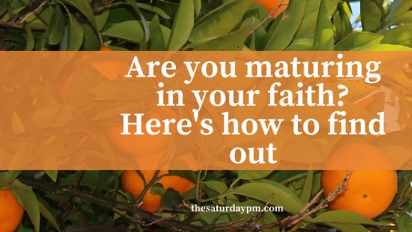 Are you maturing in your faith? Here is how to find out...