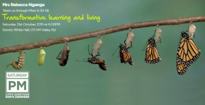 Mark 6:30-56- Transformative learning and living